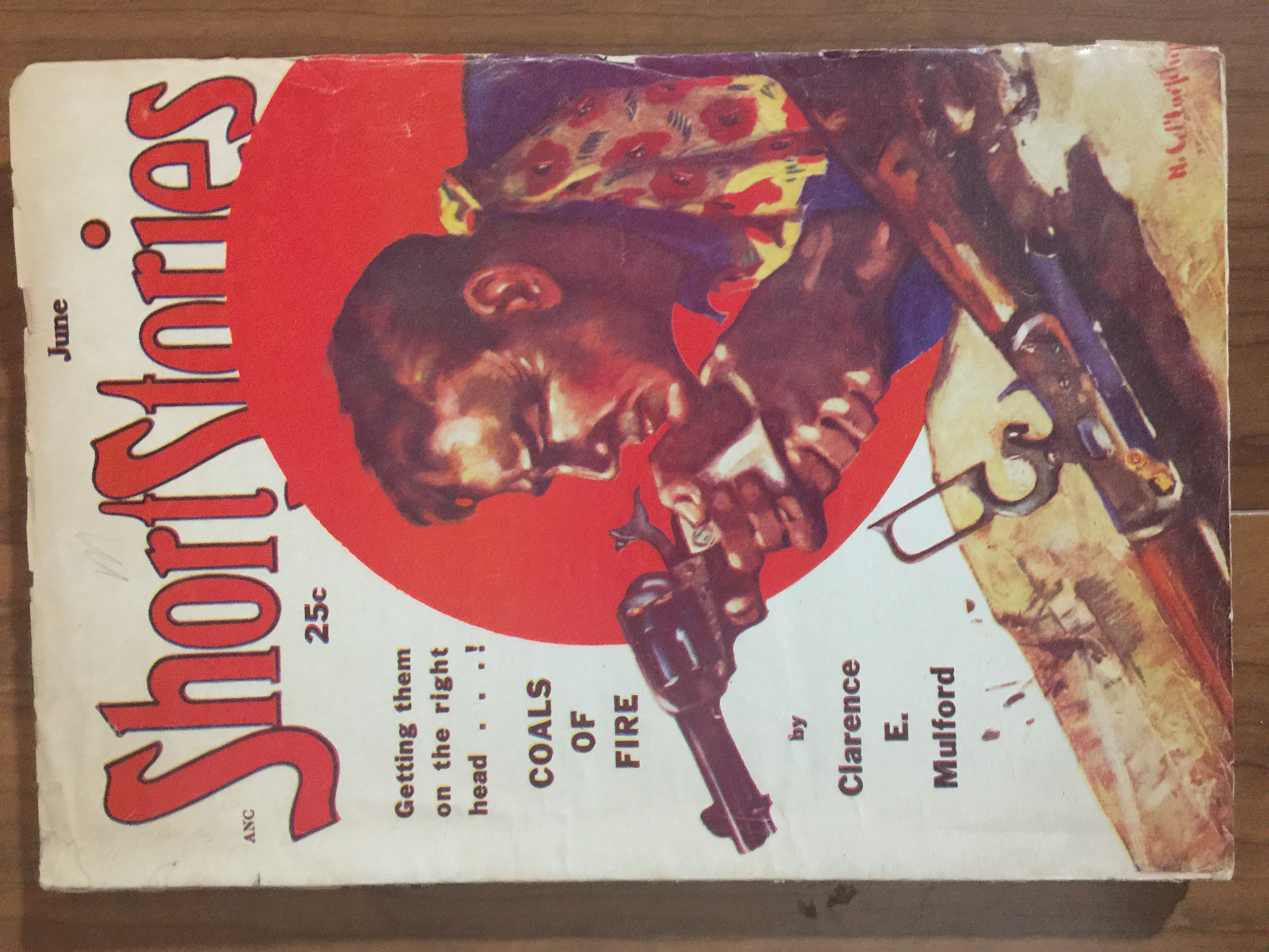 1951 Jun last pulp-sized issue of Short Stories, all reprints, no original fiction