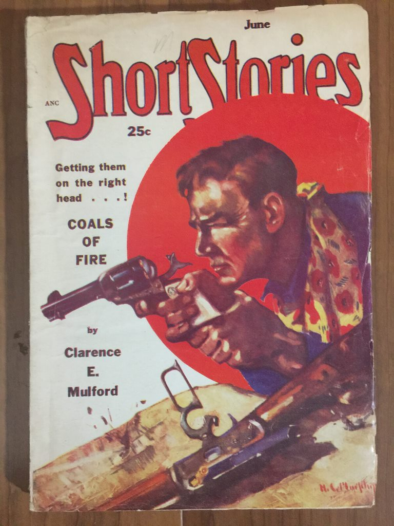 1951 Jun last pulp-sized issue of Short Stories, all reprints, no original fiction